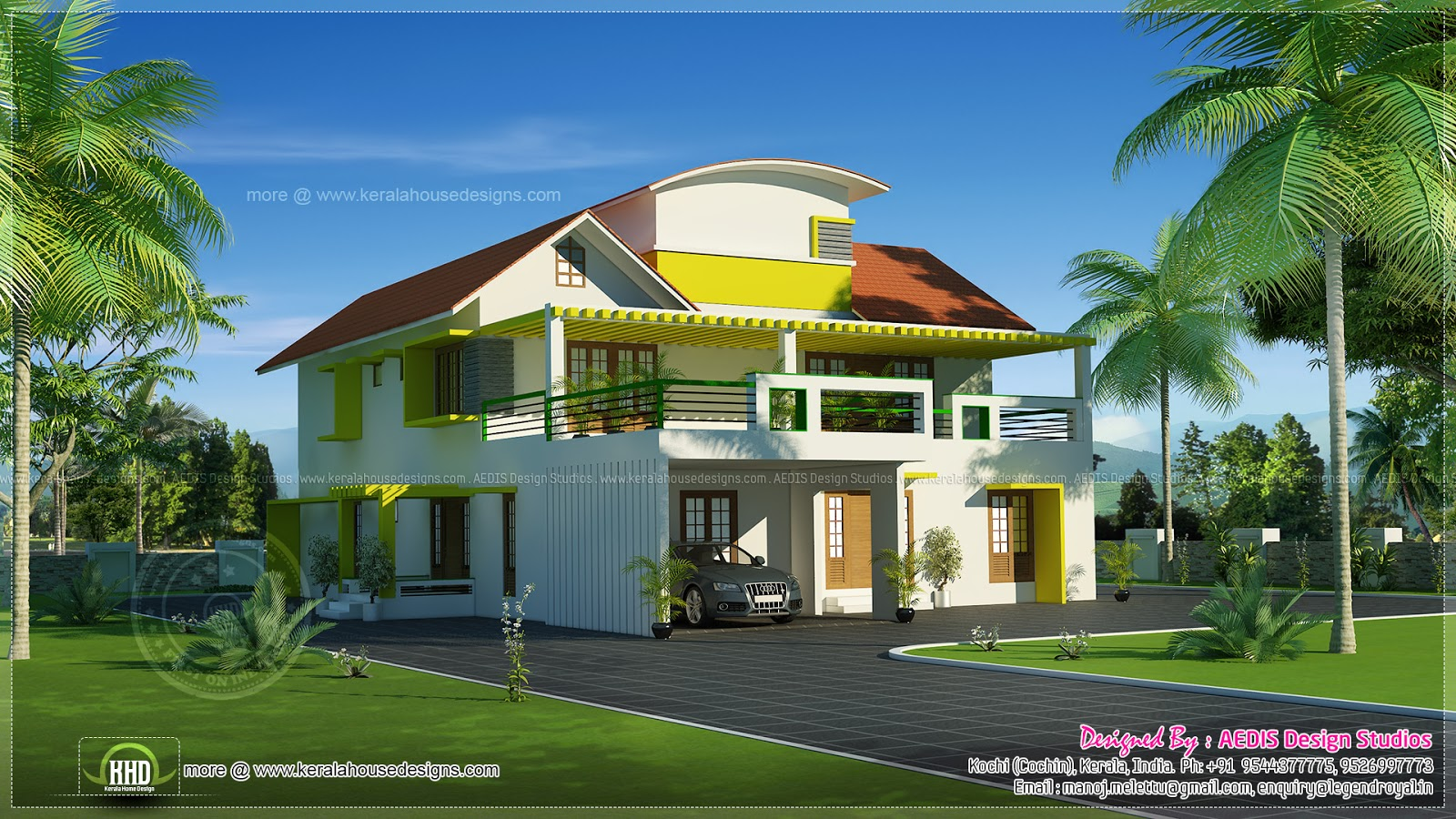 Modern Mix 3500 Home Design Kerala Home Design