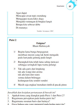 Puisi Enigma dalam Buku Sekolah