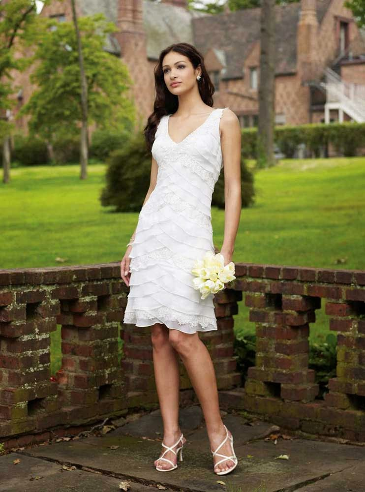 Designer Short wedding Dresses Cap Sleeves 2013 Model pictures hd