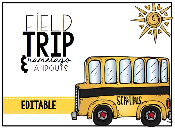 Field Trip Name tags & Handouts
