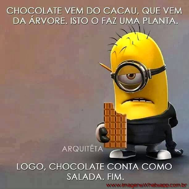 Chocolate é como Salada