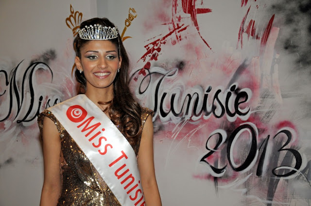Miss Tunisia Tunisie 2013 winner Heba Talmoudi