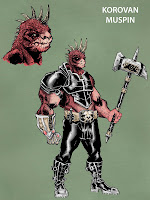 Bigfoot Sword Earthman barbarian comic book characters