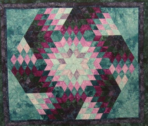 ... Patterns and Tutorials: Spinning Diamonds Quilt - Free Pattern