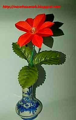 contoh bunga dari kertas kerajinan tangan siswa sd