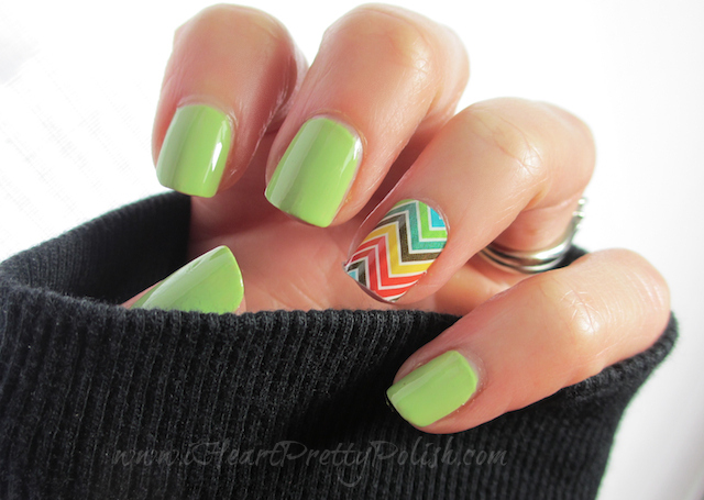 Julep Courtney and Jamberry Nail Shield Chevron