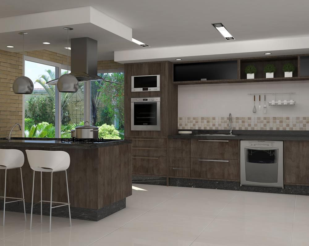 decora o e design cozinhas modernas. Black Bedroom Furniture Sets. Home Design Ideas