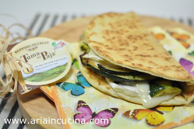 Blog di cucina di Aria: Piadina con tuma Occelli e zucchine grigliate