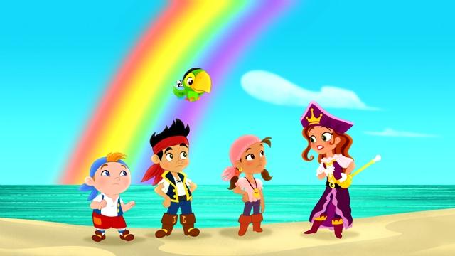 en la pagina de los piratas de nunca jamas de disney