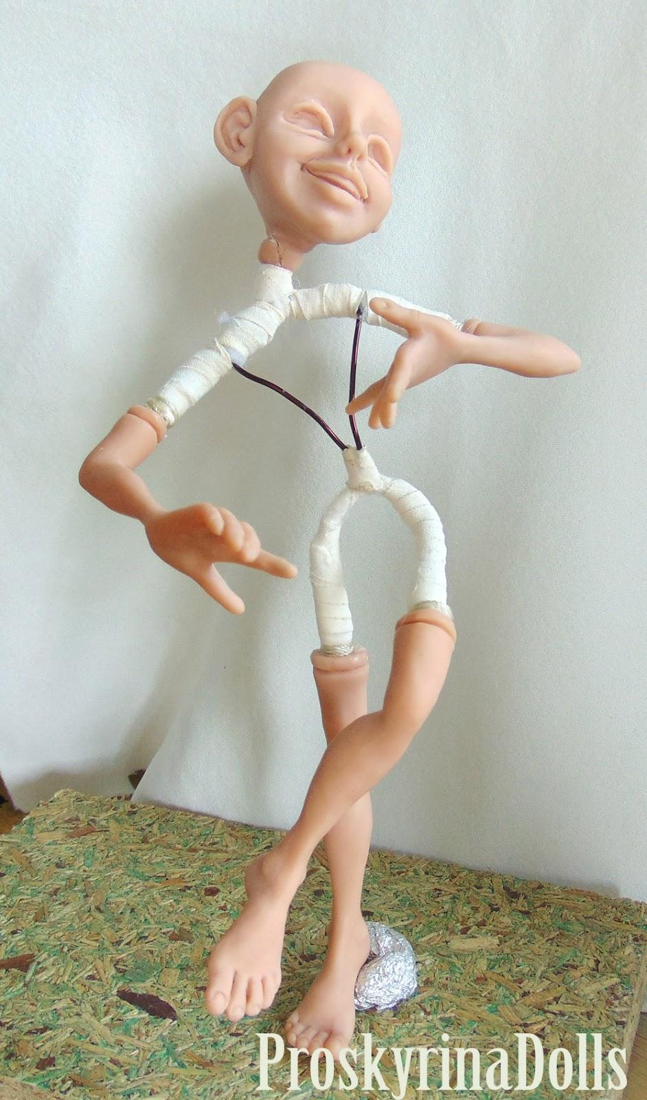 Как сделать куклу из полимерной глины в