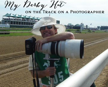My Derby Hat on the Track | DerbyMe.com