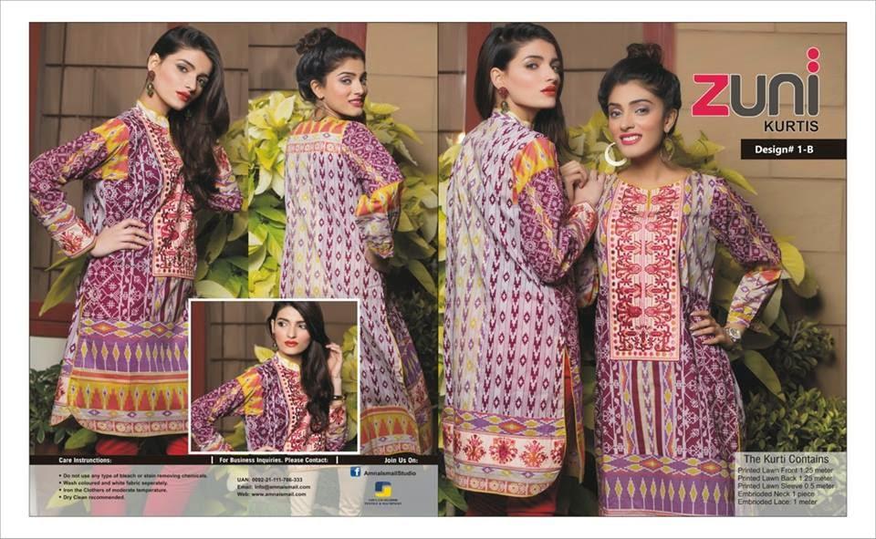 Amna Ismail kurtis fashion 2015