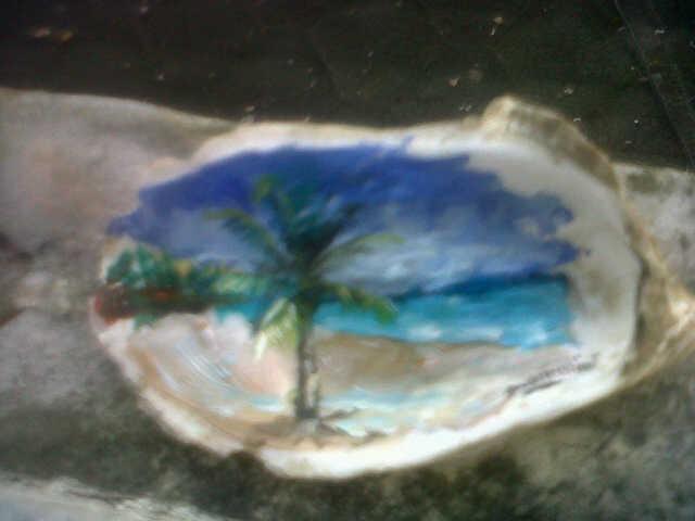 GIANNINISOLOARTE: Pinturas de Playas en Conchas del Mar