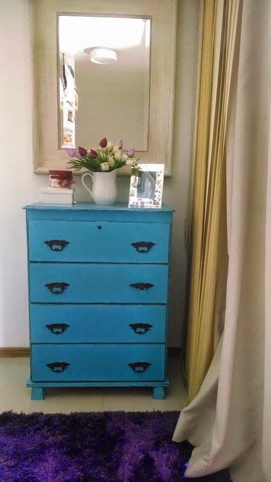 Artesanato Arame ~ Dolce Arte Atelie Comoda Provençal azul turquesa