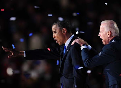 President Obama and Vice President Joe Biden After Winning 2012 Re-Election