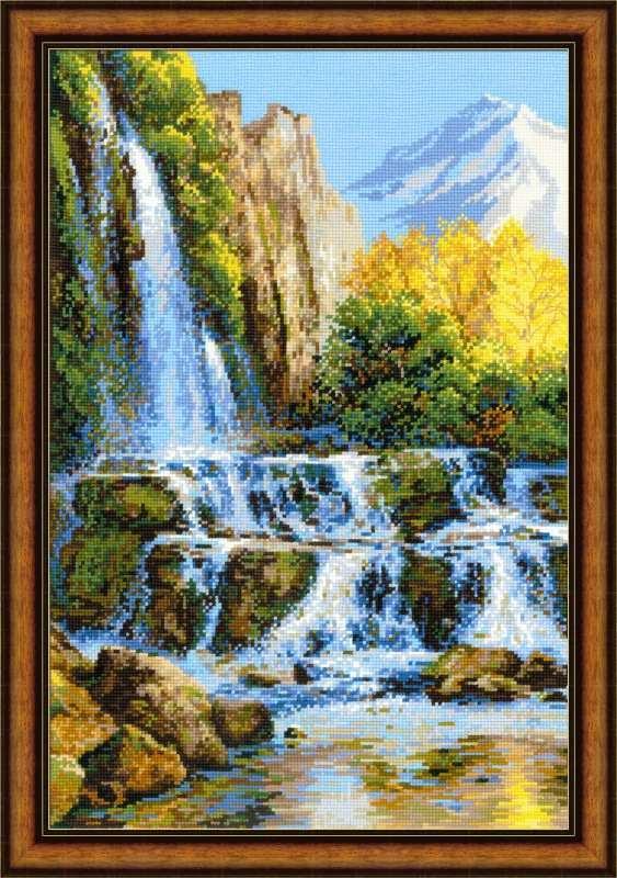 Водопад вышивка крестом схема скачать бесплатно фото 57