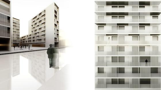 V+M Arquitectos Valencia Alzado tipo