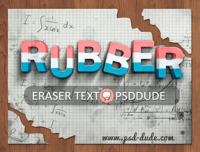 Eraser Photoshop Text Effect