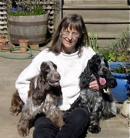 The author and her dogs