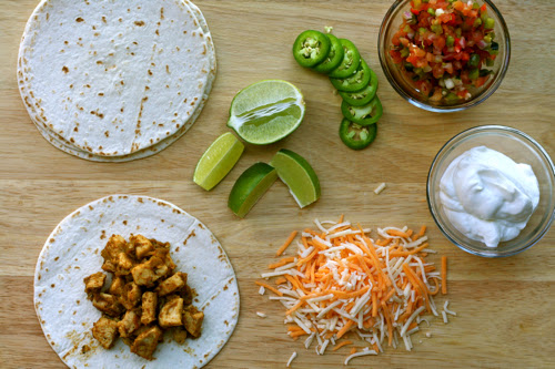 Green Chile Chicken Soft Tacos