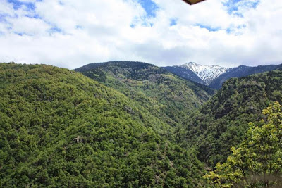 The Pyrenees between Catalonia and France