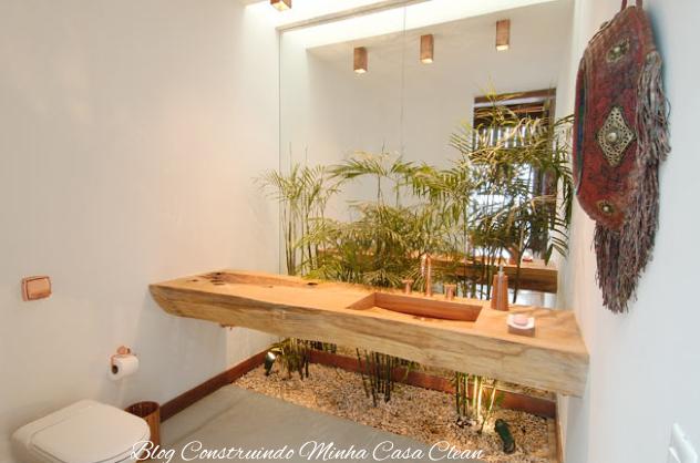 Banheiros e Lavabos com Jardins de Inverno!!! Quais Plantas Usar