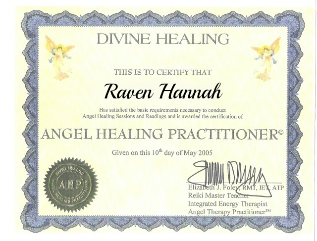 Certified Angel Healing Practitioner