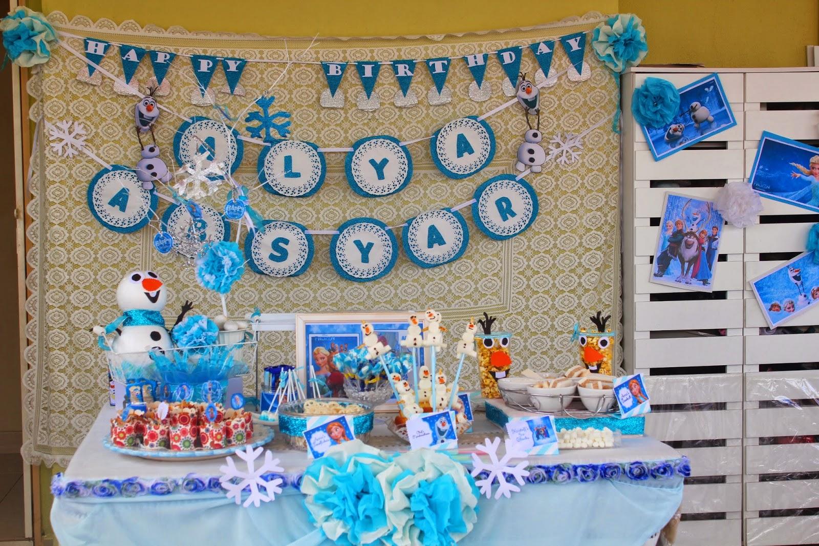 LadyWA Happy Frozen Birthday ALYA n ABSYAR