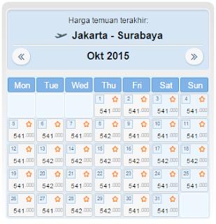 harga tiket pesawat jakarta surabaya oktober 2015