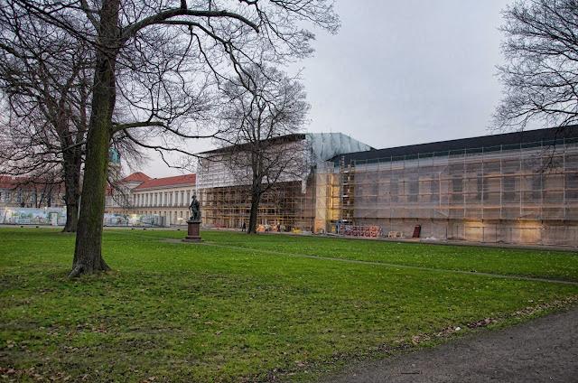 Baustelle Gesamtsanierung Schloss Charlottenburg, Spandauer Damm / Luisenplatz, 10585 Berlin, 02.01.2014