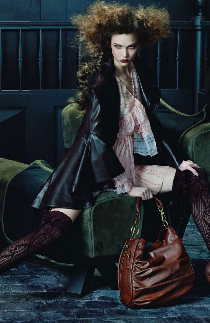 Karlie Kloss in Christian Dior Ready-to-Wear Fall/Winter 2010-2011 campaign (photography: Steven Meisel)