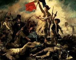 """""""LA LIBERTAD GUIANDO AL PUEBLO"""" DELACROIX. 1830"""