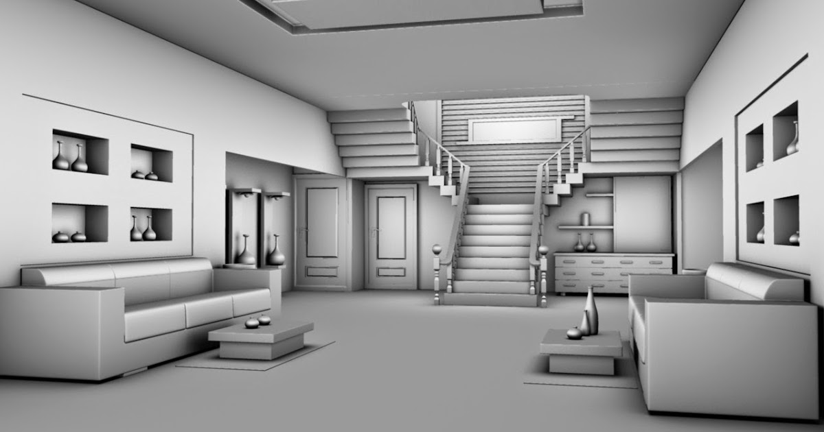 3d modelling home interior design in autodesk maya 2012 for Decor 3d model
