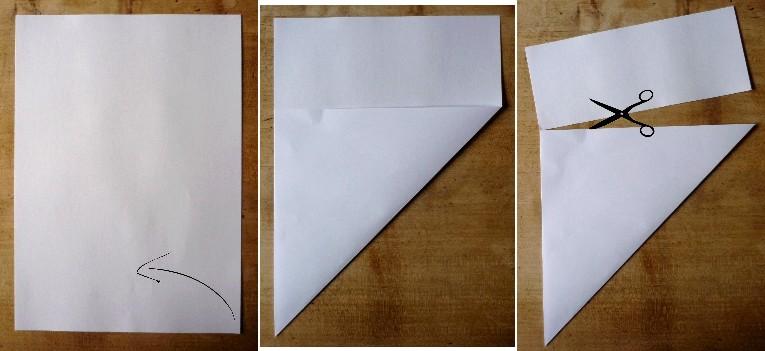 Douceurs et couleurs flocons de papier - Plier une feuille en 3 ...