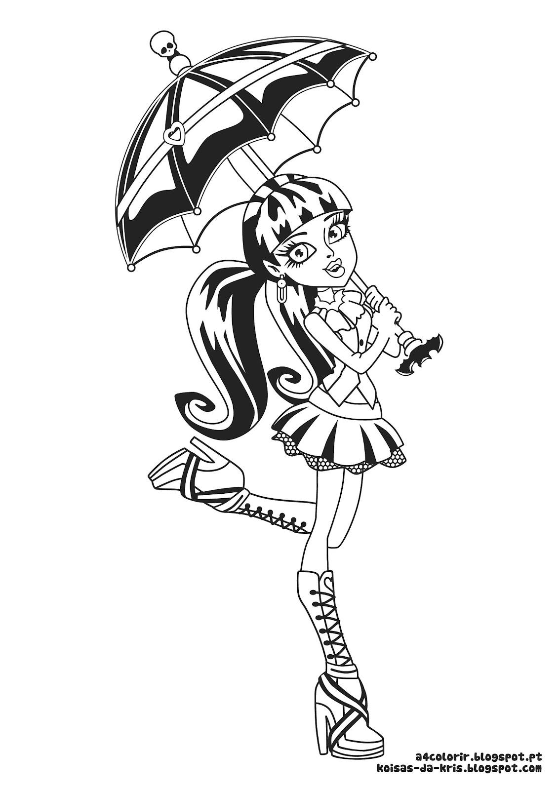 Desenhos de Monster High para colorir , jogos de pintar