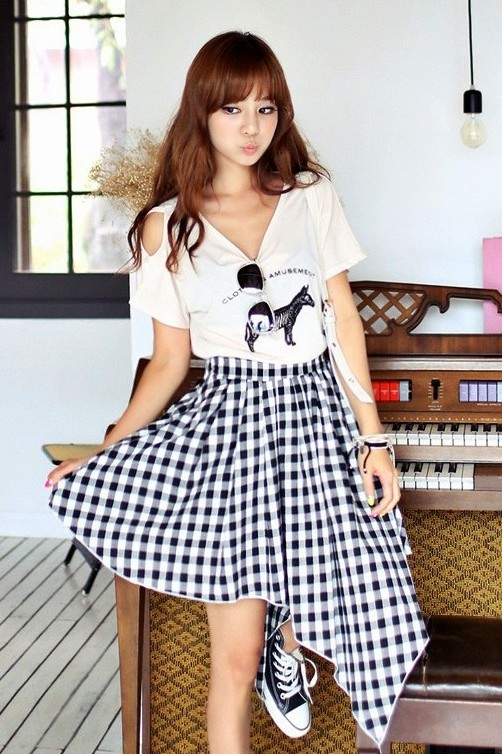Tshirt and Assymetrical Skirt