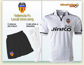 Uniforme del Valencia FC Local 2012-2013