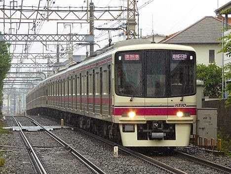 京王電鉄 準特急 高幡不動行き5 8000系新表示(H26.6.7豪雨のため運行)