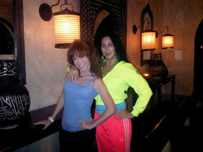 Cher and Kathy Griffin striking a pose in a photo uploaded to Twitter by Loree Rodkin