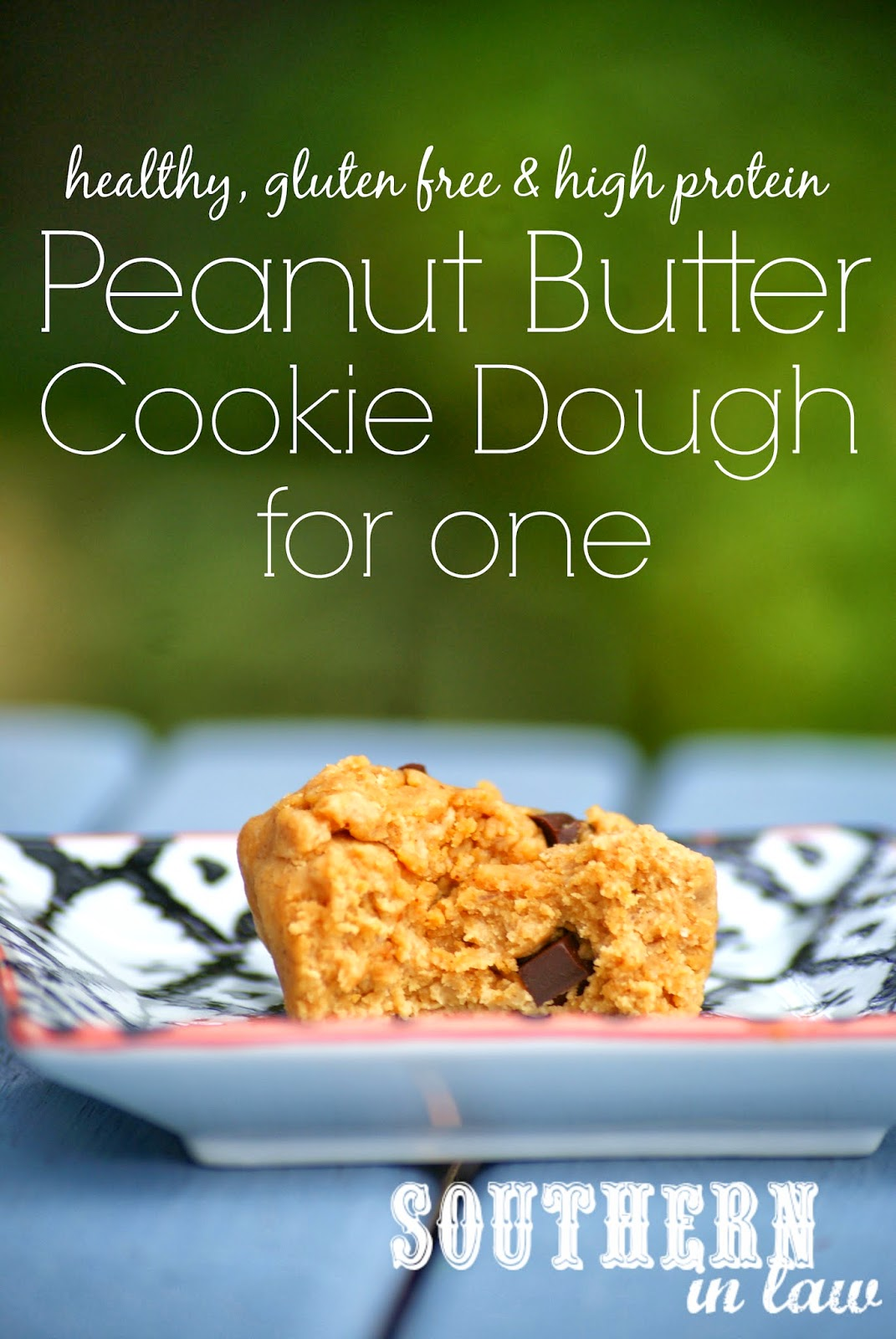 Healthy Peanut Butter Cookie Dough for One - Single Serving Protein Cookie Dough - Gluten Free, Low Fat, Clean Eating Friendly, Grain Free, Sugar Free, Vegan