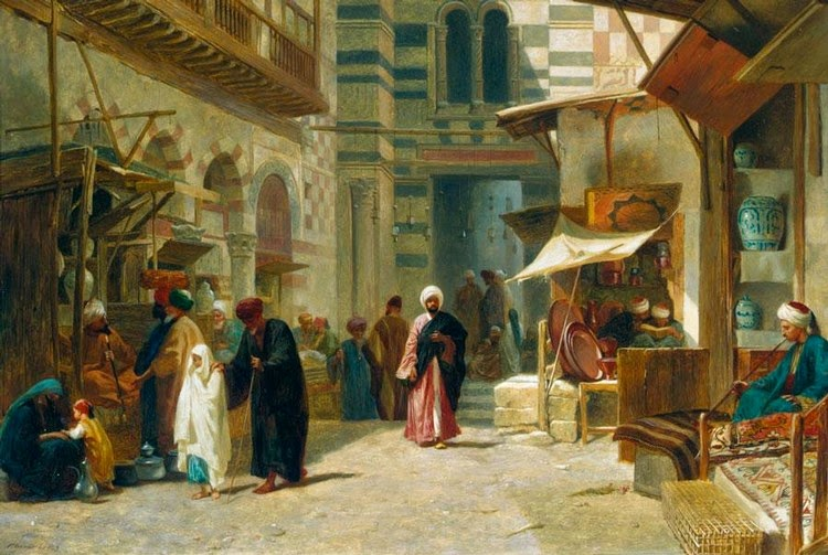 Painting Life Stories Firmin Girards Flower Market Painting
