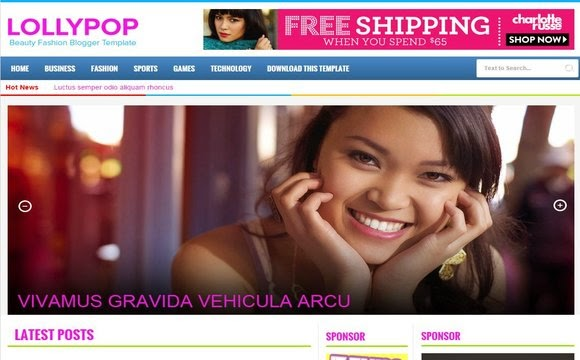 Lollypop blogger template high quality free blogger templates accmission Gallery