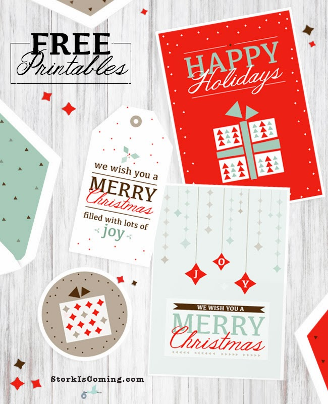 printable modern christmas greeting cards