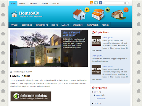 HomeSale Blogger Theme