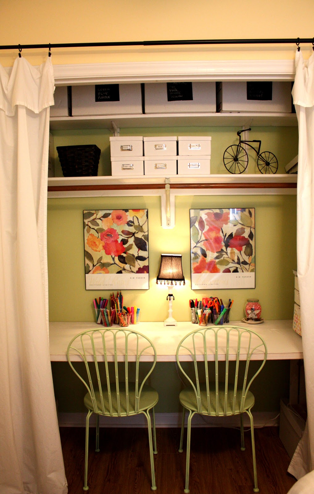 The Red Chair Blog Create A Closet Craft Space From A
