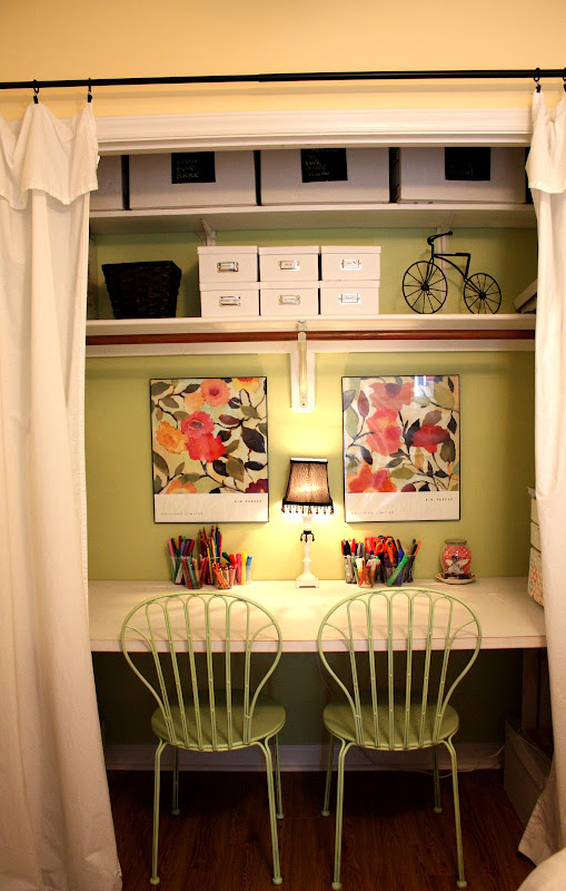 Office Closet Craft Space