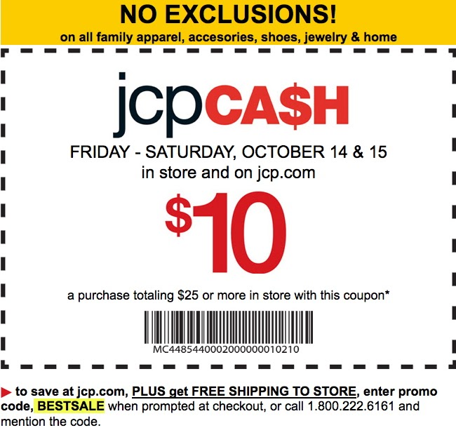 This is an image of Monster Jcpenney Printable $10 Coupon