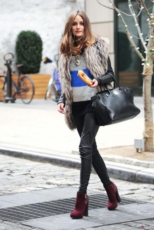 I Want Pretty Look How To Wear Fur Vests C Mo Usar Chalecos De Peluche