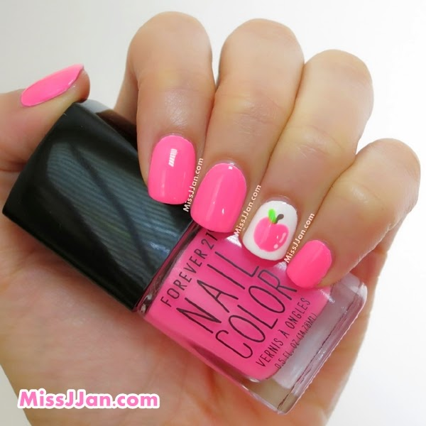 Missjjans beauty blog tutorial neon apple nail art back to i have never used any polishes from forever 21 before i got this neon along with noir glitter polishes you can see them here during their buy 1 get 1 prinsesfo Gallery