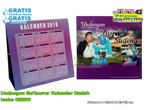 Undangan Softcover Kalender Duduk